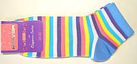 Короткие женские носки в полоску