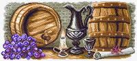 Канва с рисунком для вышивания Винный погребок