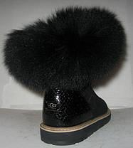 Угги женские UGG с меховой опушкой натуральная замша чёрные Код 116с, фото 2