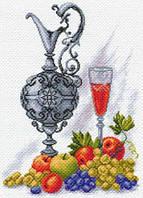 Канва с рисунком для вышивания Молодое вино