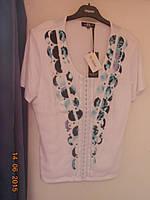 Блуза летняя с отделкой