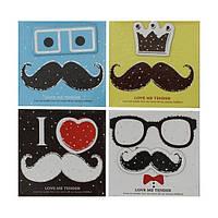 """Бумага для заметок в ламинированной картонной обложке """"Усы"""", 70 листов"""