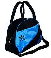 Спортивная сумка для фитнеса Adidas, Адидас черная с голубым
