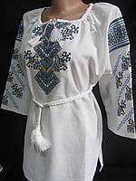 Женская вышиванка. Вышиванка из белого льна