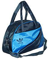 Спортивная сумка для фитнеса Adidas, Адидас серая с голубым