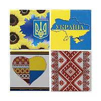 """Бумага для заметок в ламинированной картонной обложке """"Украина"""", 70 листов"""