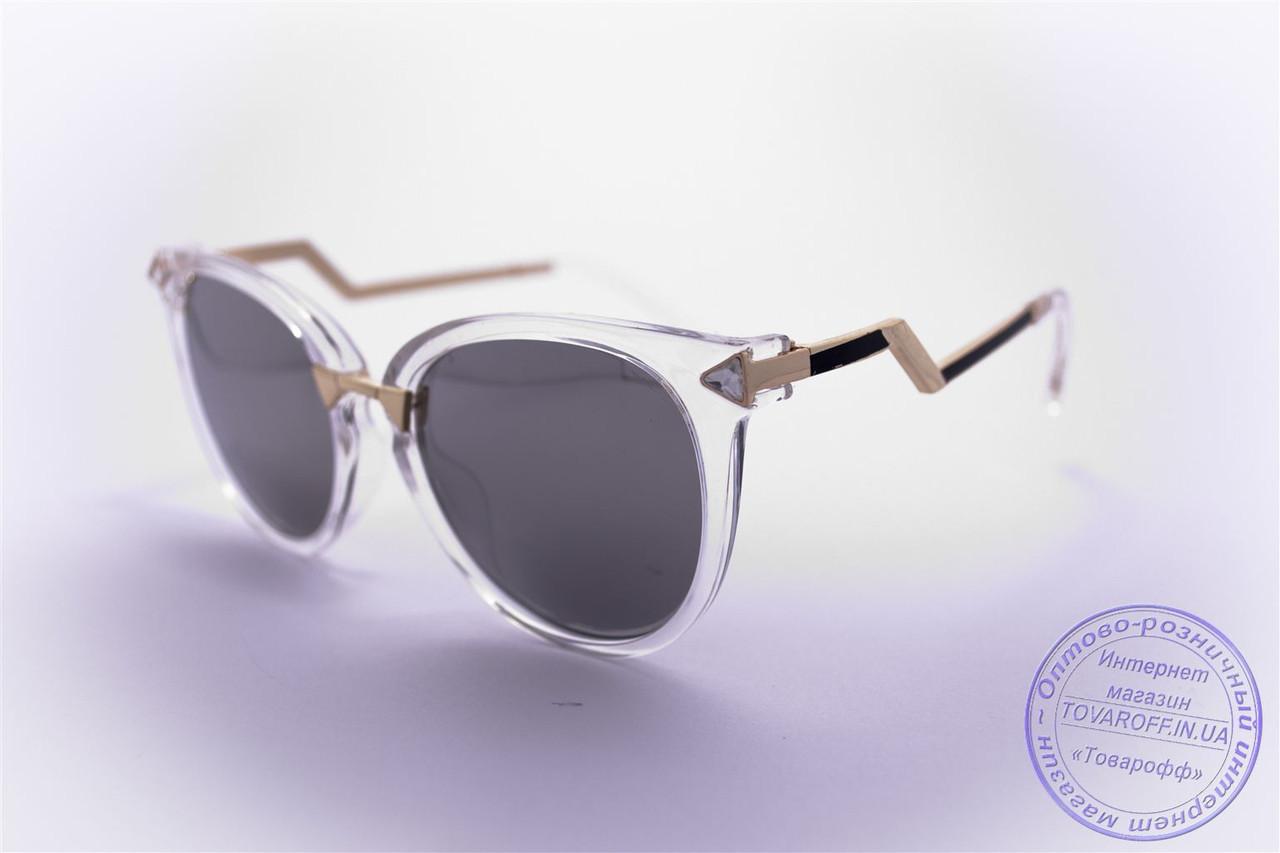 Оптом женские солнцезащитные очки Кошачий глаз - Прозрачные - 0039