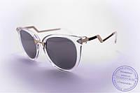 Оптом женские солнцезащитные очки Кошачий глаз - Прозрачные - 0039, фото 1