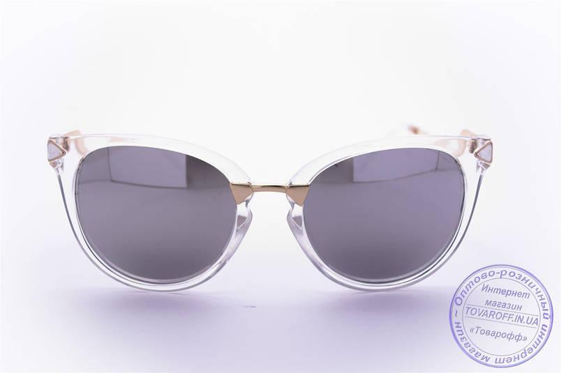 Оптом женские солнцезащитные очки Кошачий глаз - Прозрачные - 0039, фото 2