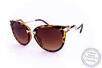 Оптом женские солнцезащитные очки Кошачий глаз - Леопардовые - 0039