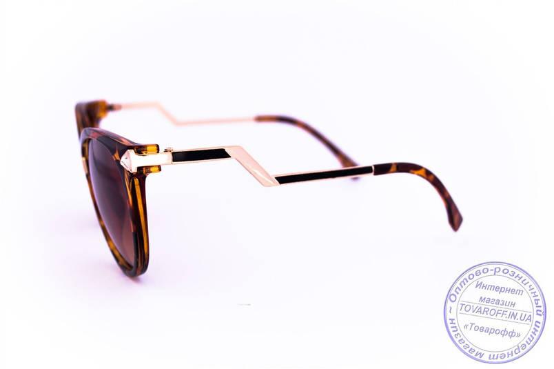Оптом женские солнцезащитные очки Кошачий глаз - Леопардовые - 0039, фото 2