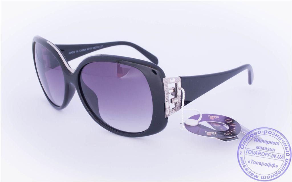 Оптом женские солнцезащитные очки - Черные - 218