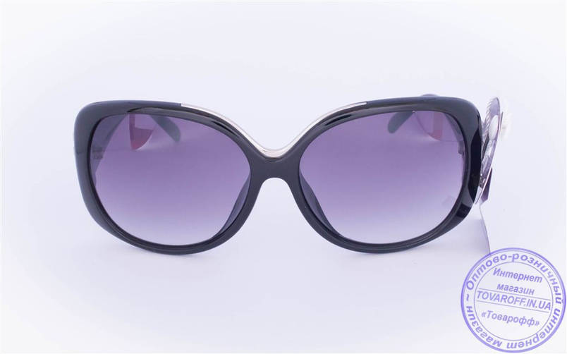 Оптом женские солнцезащитные очки - Черные - 218, фото 2