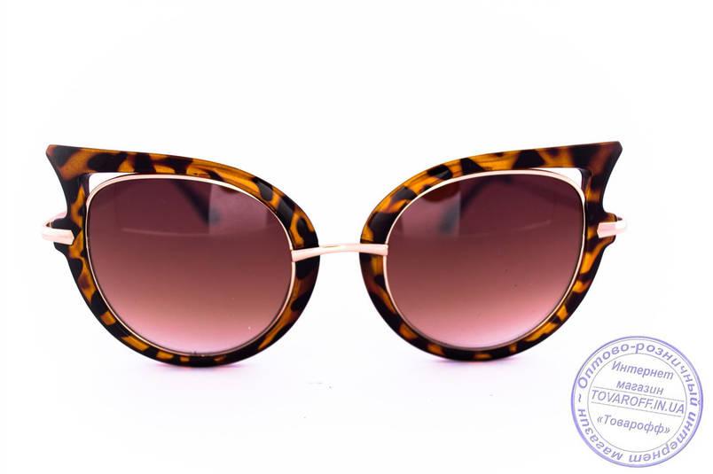 Оптом модные женские солнцезащитные очки Кошачий глаз - Леопардовые - 228, фото 2