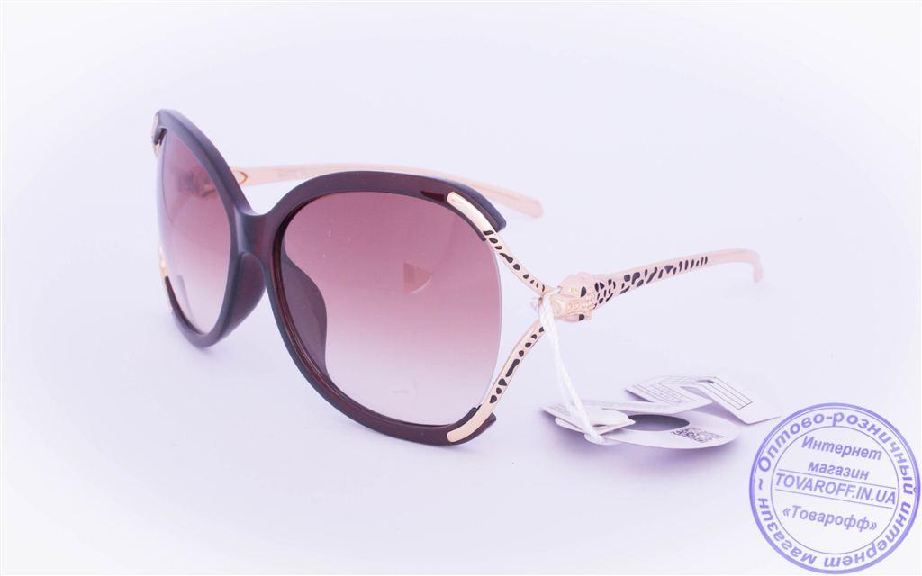 Оптом женские солнцезащитные очки - Коричневые - 234