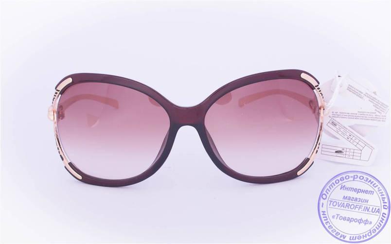 Оптом женские солнцезащитные очки - Коричневые - 234, фото 2