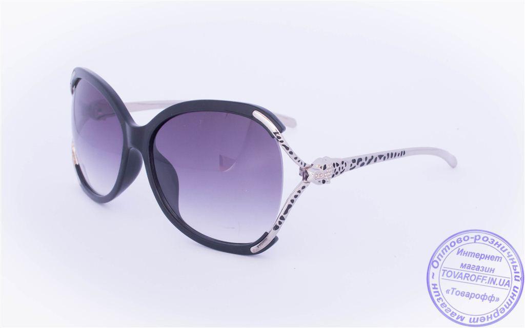 Оптом женские солнцезащитные очки - Черные - 234