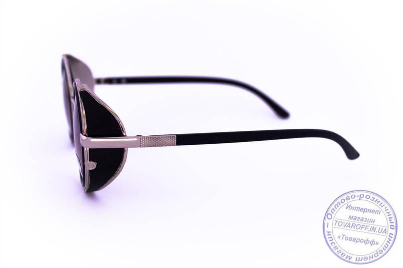 Оптом модные круглые очки в стиле стимпанк - Черные - 264, фото 2