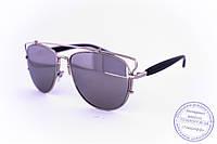 Оптом солнцезащитные зеркальные очки унисекс Авиатор - Стальные - 955, фото 1