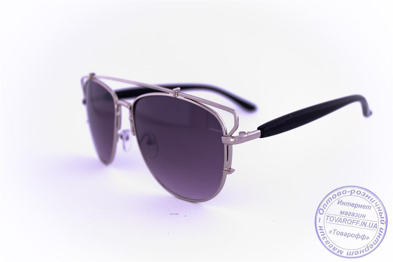 Оптом солнцезащитные очки унисекс Авиатор - Стальные - 955