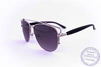 Оптом солнцезащитные очки унисекс Авиатор - Стальные - 955, фото 1