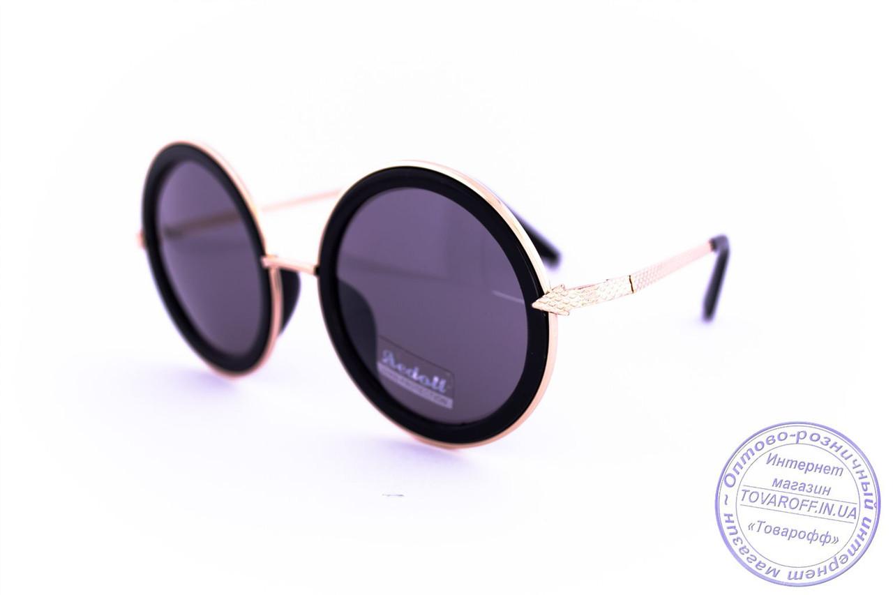 Оптом оригинальные круглые очки - Черные - 1010