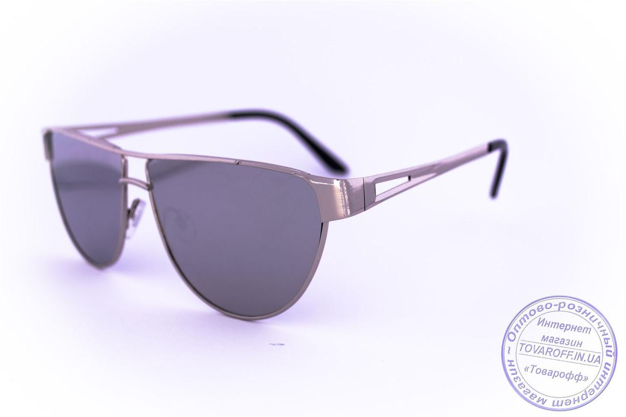 Оптом треугольные солнцезащитные зеркальные очки - Стальные - 1154