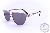 Оптом треугольные солнцезащитные зеркальные очки - Стальные - 1154, фото 1