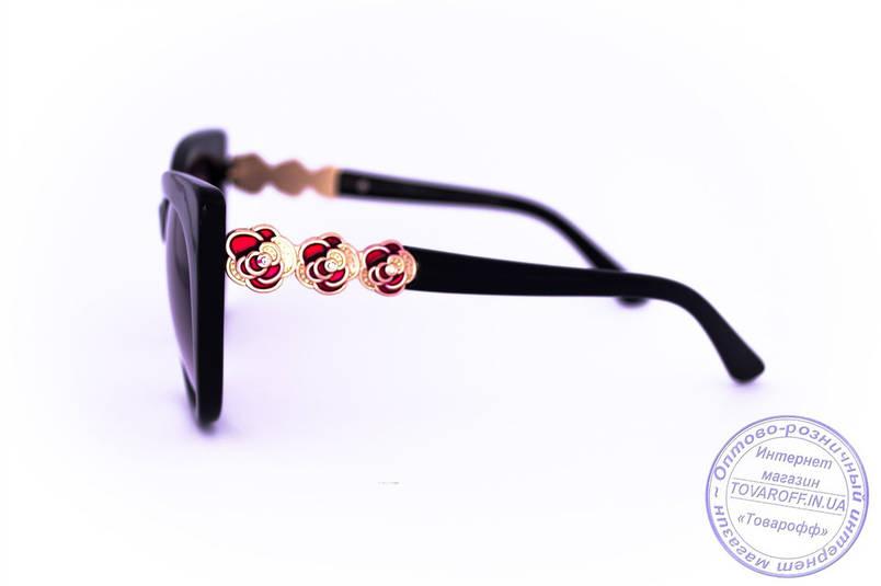 Оптом стильные ретро очки Кошачий глаз - Черные - 1510, фото 2