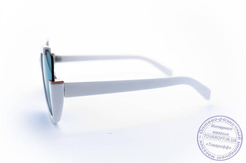 Оптом оригінальні квадратні сонцезахисні дзеркальні окуляри - Білі - 1520, фото 2