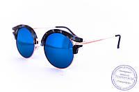 Оптом эксклюзивные солнцезащитные зеркальные очки Клабмастер - Синие - 1809, фото 1