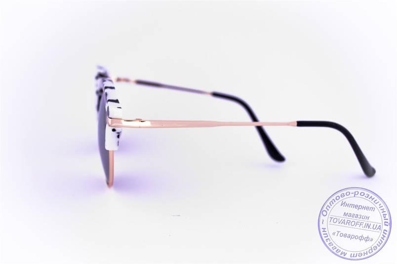 Оптом эксклюзивные солнцезащитные зеркальные очки Клабмастер - Черно-белые - 1809, фото 2