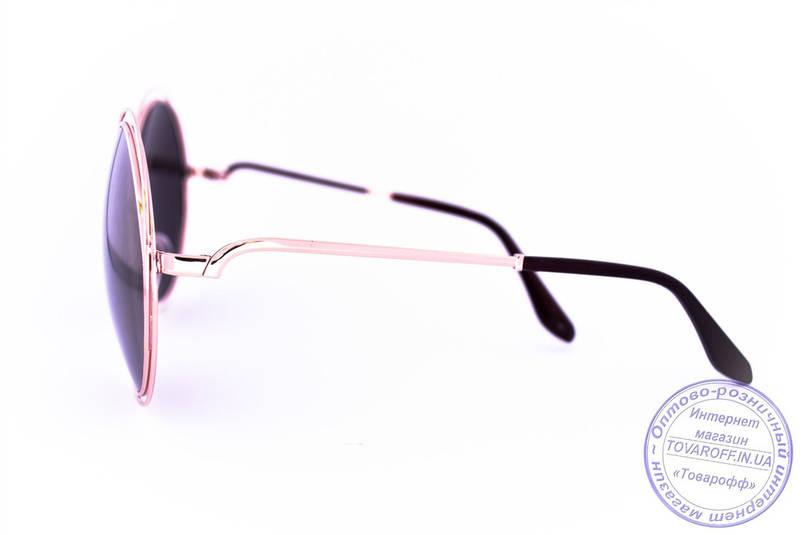 Оптом круглые зеркальные очки Оверсайз - 1868, фото 2