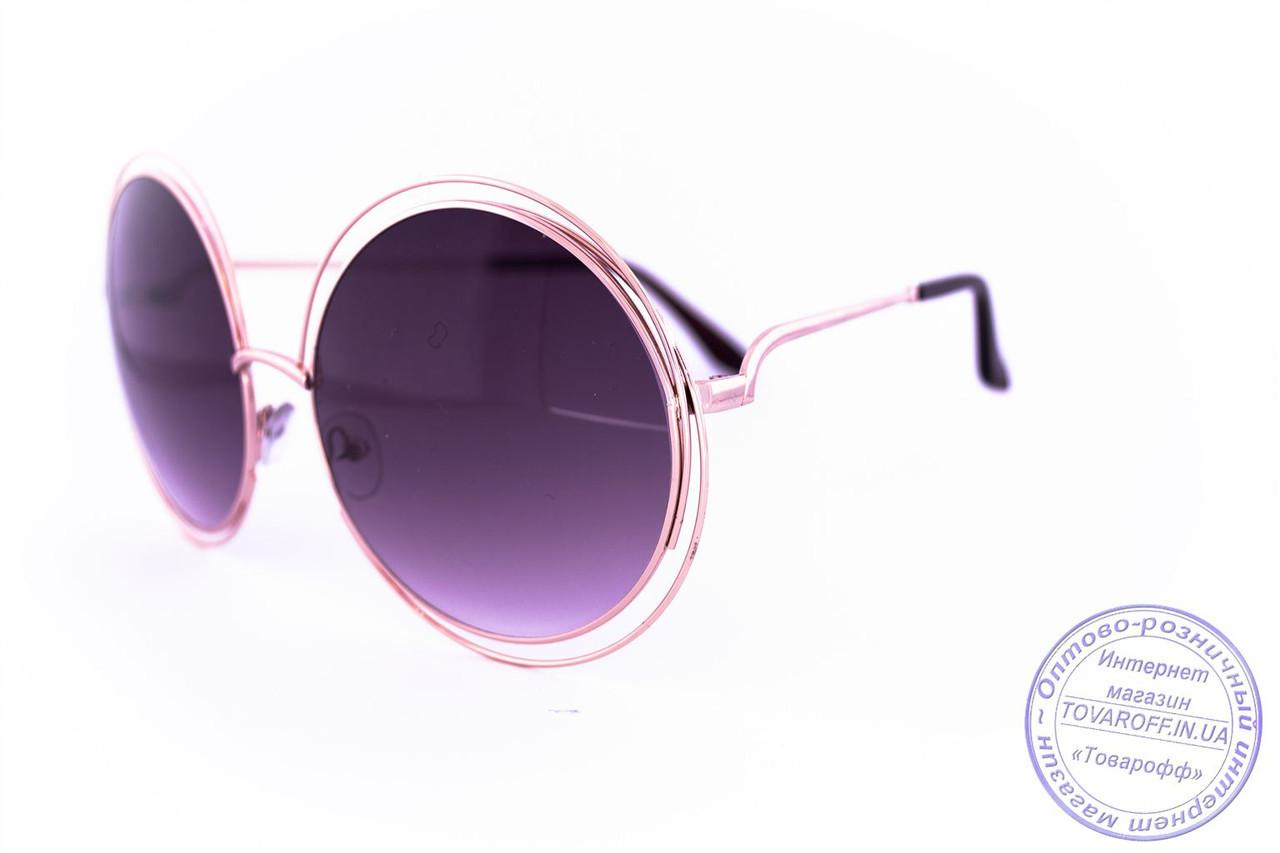 Оптом круглые очки Оверсайз - 1868