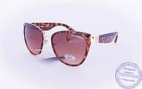 Оптом женские брендовые солнцезащитные очки D&G Кошачий глаз - Леопардовые - 2017