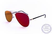 Оптом солнцезащитные зеркальные очки унисекс Авиатор - Стальные - 2206, фото 1