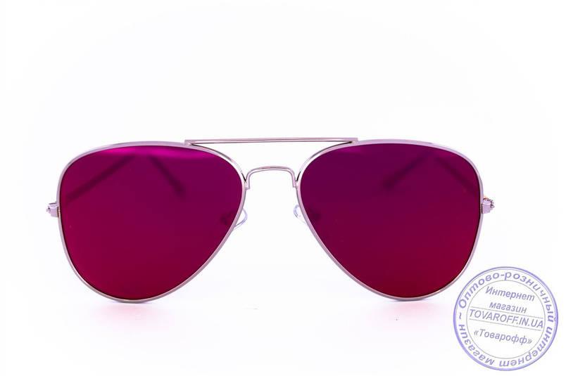 Оптом солнцезащитные зеркальные очки унисекс Авиатор - Стальные - 2206, фото 2
