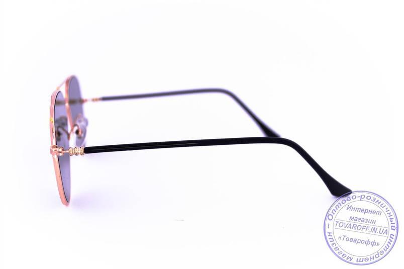 Оптом сонцезахисні дзеркальні окуляри унісекс Авіатор - Золоті - 2206, фото 2