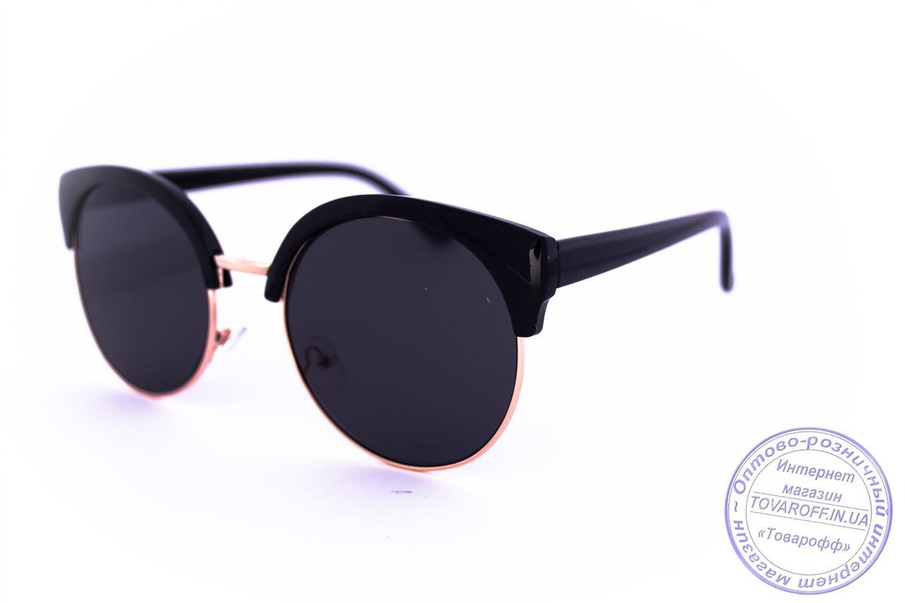 Оптом солнцезащитные очки Броулайнеры - Черные - 1227