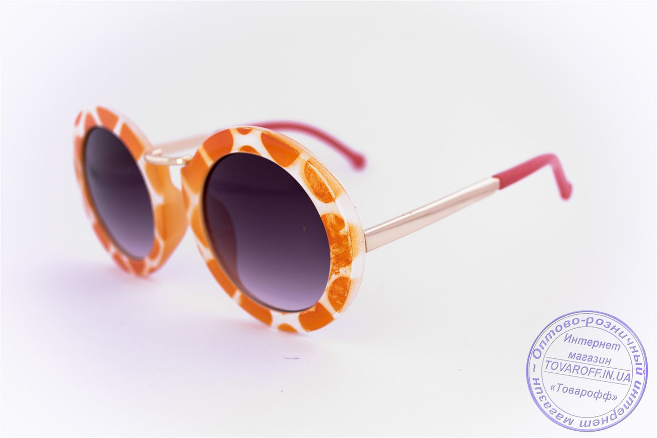 Оптом оригінальні круглі сонцезахисні окуляри - Жираф - 2500