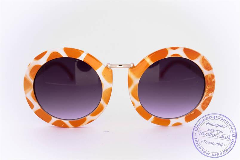 Оптом оригинальные круглые солнцезащитные очки - Жираф - 2500, фото 2