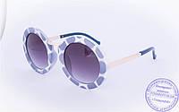Оптом оригинальные круглые солнцезащитные очки - Синие - 2500, фото 1