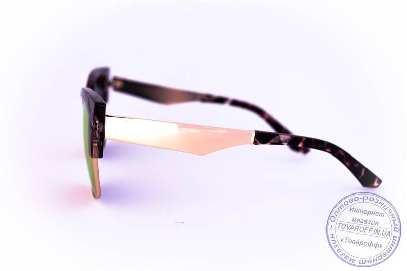 Оптом зеркальные солнцезащитные очки Броулайнеры - Коричневые - 2823, фото 2