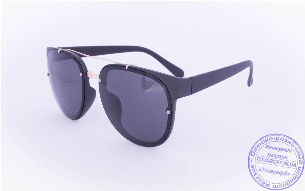 Оптом оригинальные солнцезащитные очки Авиатор - Черные - 3229