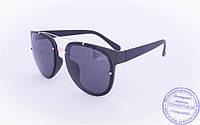 Оптом оригинальные солнцезащитные очки Авиатор - Черные - 3229, фото 1