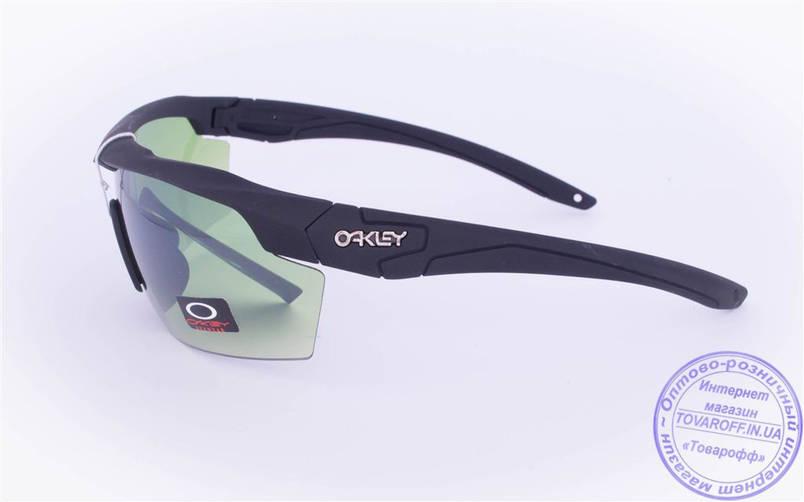 Оптом тактические брендовые очки-маска Oakley - Черные - 7931, фото 2