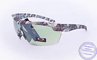 Оптом тактические брендовые очки-маска Oakley - Хаки - 7931, фото 1