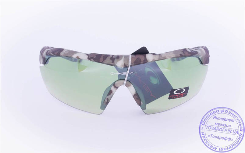 Оптом тактические брендовые очки-маска Oakley - Хаки - 7931, фото 2