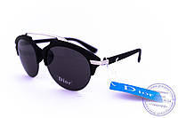 Оптом модные солнцезащитные очки Dior Clubmaster - Черные - 8013