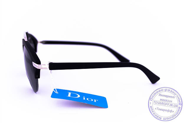 Оптом модные солнцезащитные очки Dior Clubmaster - Черные - 8013, фото 2
